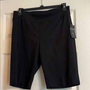 New, Zac & Rachel, black knee length shorts. 12P